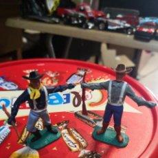 Figuras de Borracha e PVC: 2 VAQUEROS EJÉRCITO AMERICANO TIMPO TOYS. Lote 191674260