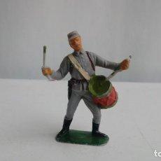 Figuras de Goma y PVC: SOLDADO CONFEDERADO JECSAN CON TAMBOR. Lote 191674680