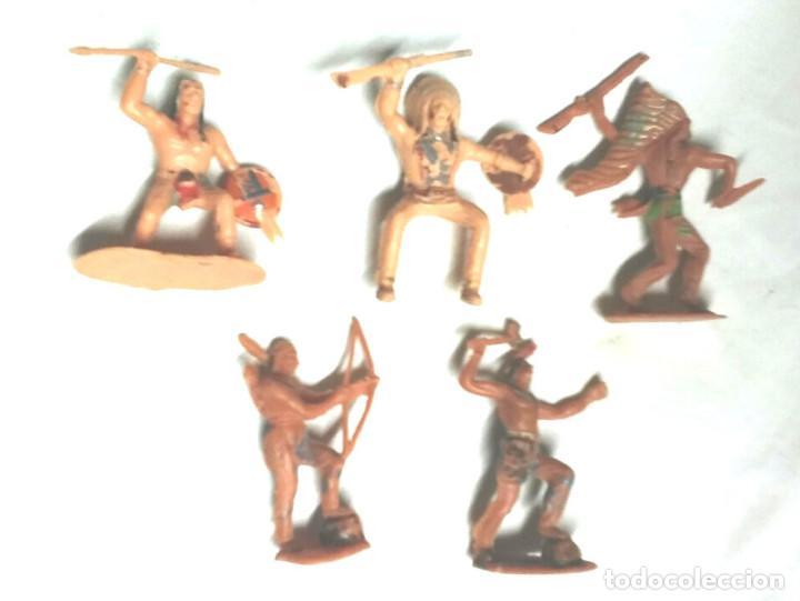5 INDIOS SIOUX REAMSA COMANSI (Juguetes - Figuras de Goma y Pvc - Reamsa y Gomarsa)