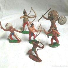 Figuras de Goma y PVC: LOTE 6 FIGURAS INDIOS COMANSI, REAMSA. Lote 191683371