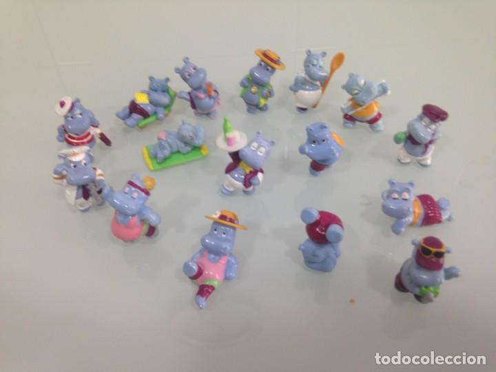 KINDER,THE HIPPOS , 16 FIGURAS DE HIPOPOTAMOS (Juguetes - Figuras de Gomas y Pvc - Kinder)