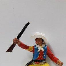 Figuras de Goma y PVC: VAQUERO - COWBOY PARA CABALLO . REALIZADO POR M. SOTORRES . AÑOS 50 EN GOMA. Lote 191906575