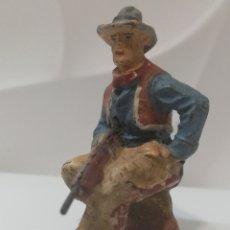 Figuras de Goma y PVC: ELASTOLIN VAQUERO SENTADO. Lote 191936110