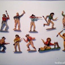Figuras de Goma y PVC: ANTIGUO LOTE DE VAQUEROS COMANSI. Lote 192010600