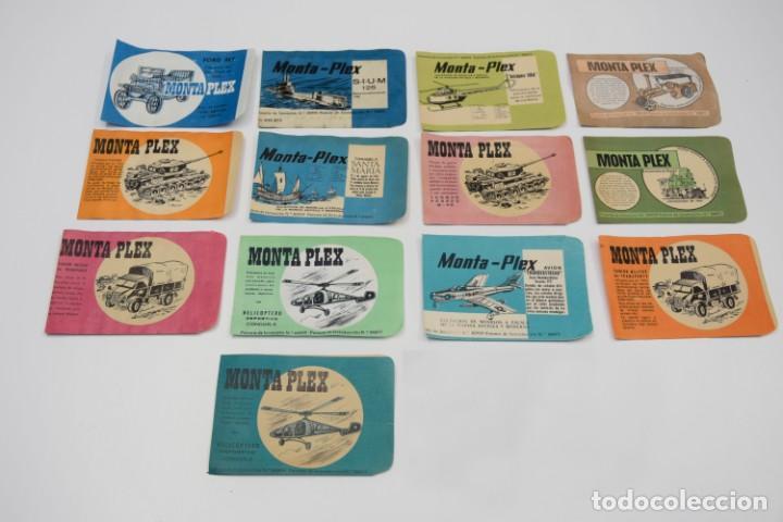 LOTE DE SOBRES VACÍOS MONTAPLEX PRIMERA ÉPOCA - ESTADO IMPECABLE - AÑOS 60 (Juguetes - Figuras de Goma y Pvc - Montaplex)