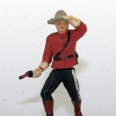 Figurines en Caoutchouc et PVC: GAMA - FIGURA POLICIA MONTADA DE CANADA - GOMA - 50MM - ARTICULADAS EN CINTURA - DOS PIEZAS. Lote 192062037