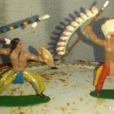 Figuras de Goma y PVC: INDIOS DE JECSAN. Lote 192064022