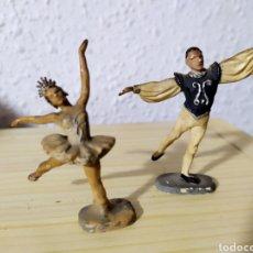 Figuras de Goma y PVC: FIGURAS BAILARINES GOMA MADE IN ENGLAND. Lote 192098600