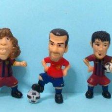 Figuras de Goma y PVC: LOTE FIGURAS FC BARCELONA - ORIGINALES YOLANDA / COMANSI - BARÇA TOONS - GUARDIOLA ENTRENADOR. Lote 192153267