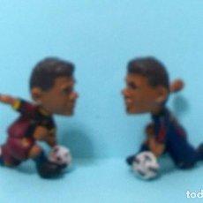 Figuras de Goma y PVC: 2 FIGURAS FC BARCELONA - ORIGINALES YOLANDA / COMANSI - BARÇA TOONS - DANI ALVES 2 VERSIONES. Lote 192153321
