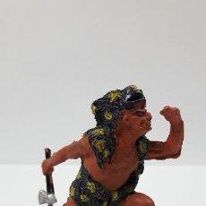 Figuras de Goma y PVC: GUERRERO INDIO . SERIE AZTECAS . REALIZADA POR PECH . AÑOS 50 EN GOMA. Lote 192172922