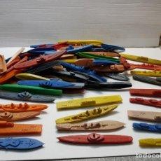 Figuras de Goma y PVC: LOTE 100 BARCOS Y SUBMARINOS MILITARES MONTAPLEX SERIE GRANDE. Lote 192276927