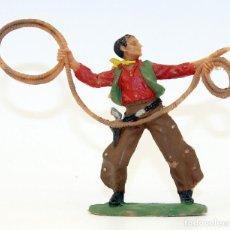 Figuras de Goma y PVC: REAMSA - TEXAS COWBOYS - 60MM - PLASTICO - VAQUEROS CON LAZO - AÑOS 1953-1956. Lote 192311740