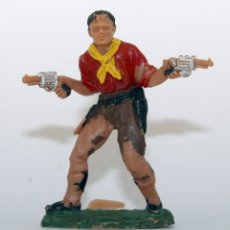 Figuras de Goma y PVC: REAMSA - TEXAS COWBOYS - 60MM - PLASTICO - VAQUERO CON DOS PISTOLAS - AÑOS 1953-1956. Lote 192311852