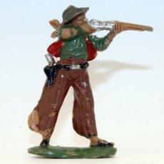 Figuras de Goma y PVC: REAMSA - TEXAS COWBOYS - 60MM - PLASTICO - VAQUERO CON ESCOPETA - AÑOS 1953-1956. Lote 192311881