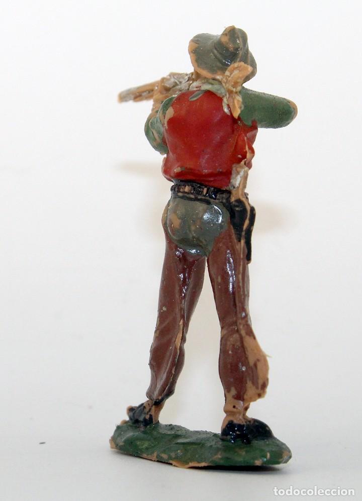 Figuras de Goma y PVC: REAMSA - TEXAS COWBOYS - 60mm - PLASTICO - VAQUERO CON ESCOPETA - AÑOS 1953-1956 - Foto 4 - 192311881