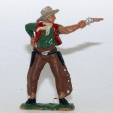 Figuras de Goma y PVC: REAMSA - TEXAS COWBOYS - 60MM - PLASTICO - VAQUERO CON PISTOLA - AÑOS 1953-1956. Lote 192311921