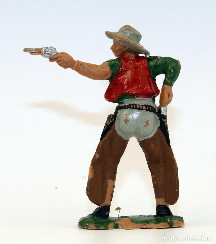 Figuras de Goma y PVC: REAMSA - TEXAS COWBOYS - 60mm - PLASTICO - VAQUERO CON PISTOLA - AÑOS 1953-1956 - Foto 3 - 192311921