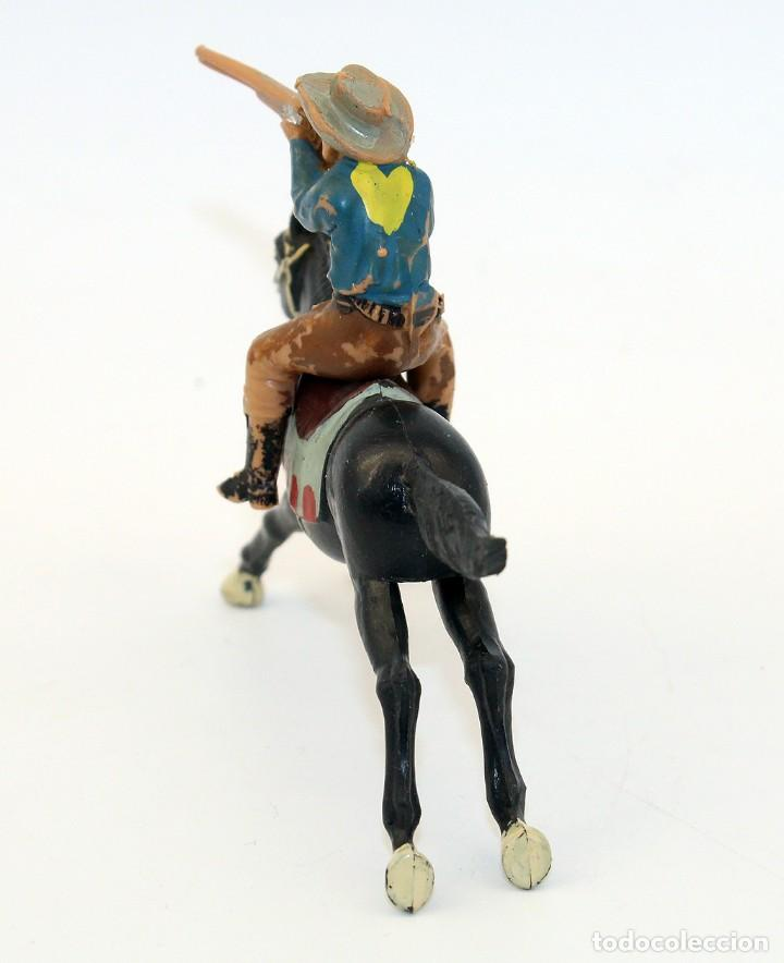 Figuras de Goma y PVC: REAMSA - TEXAS COWBOYS - 60mm - PLASTICO - VAQUERO A CABALLO DISPARANDO - AÑOS 1953-1956 - Foto 3 - 192311961