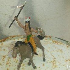 Figuras de Goma y PVC: INDIO Y CABALLO DE COMANSI. Lote 192354298
