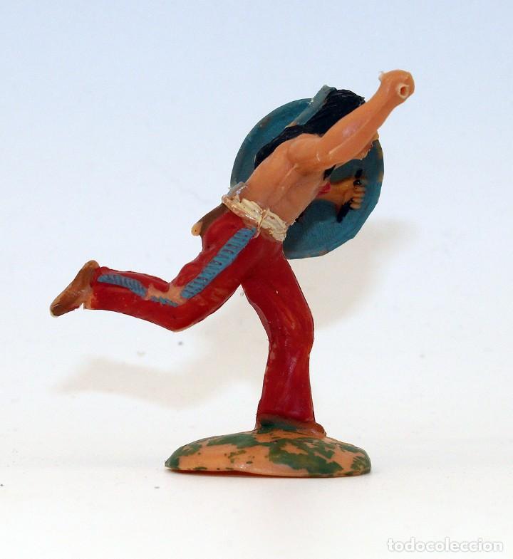 Figuras de Goma y PVC: REAMSA - INDIO COMANCHE CON ESCUDO - 60mm - PLASTICO - AÑOS 1953-1956 - Foto 2 - 192354756