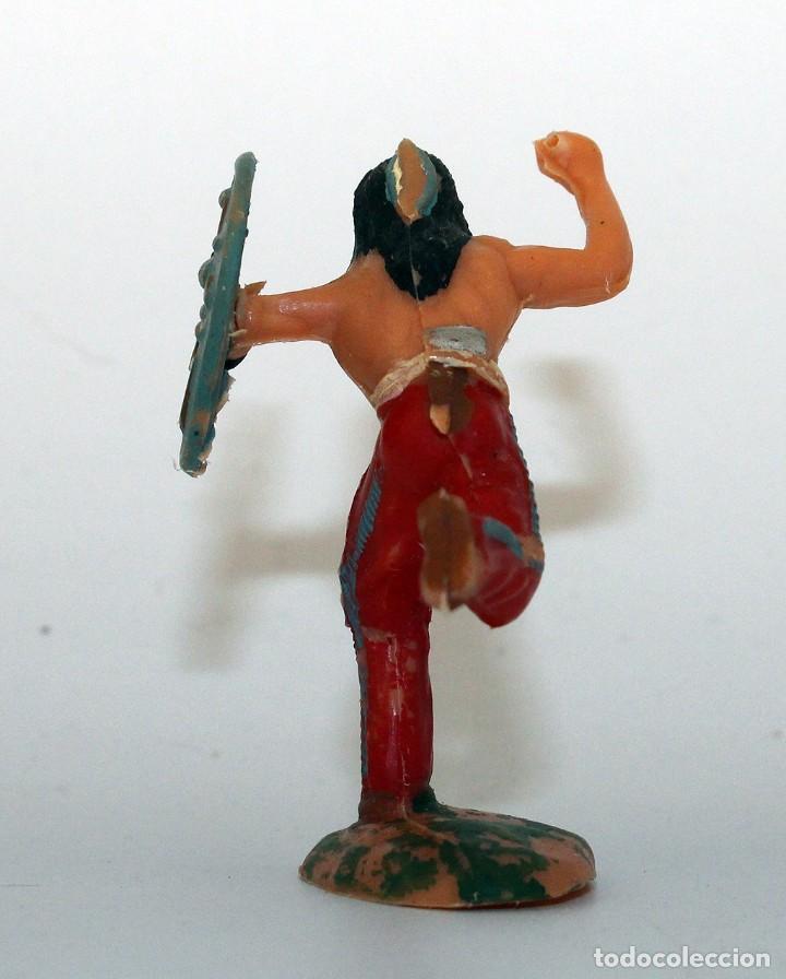 Figuras de Goma y PVC: REAMSA - INDIO COMANCHE CON ESCUDO - 60mm - PLASTICO - AÑOS 1953-1956 - Foto 3 - 192354756