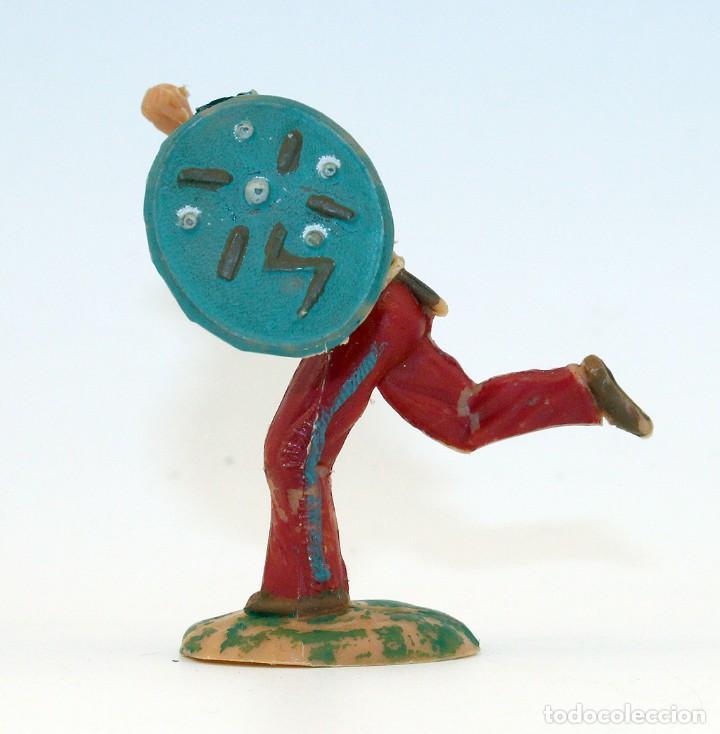 Figuras de Goma y PVC: REAMSA - INDIO COMANCHE CON ESCUDO - 60mm - PLASTICO - AÑOS 1953-1956 - Foto 4 - 192354756