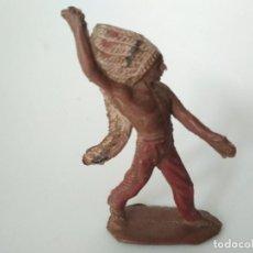 Figuras de Goma y PVC: FIGURA INDIO EN GOMA PECH HNOS. Lote 192375236