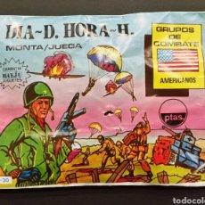 Figuras de Goma y PVC: SOBRE CERRADO BAYJU A-30 DÍA D HORA H TIPO MONTAPLEX. Lote 192588413