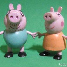Figuras de Goma y PVC: PEPPA PIG DOS FIGURAS (LAS DE LA IMAGEN) COMANSI AÑO 2003. Lote 192612140