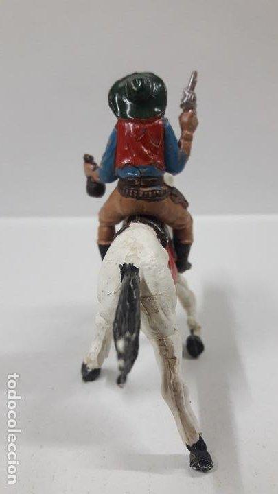 Figuras de Goma y PVC: VAQUERO BANDIDO PARA CABALLO . REALIZADO POR TEIXIDO . AÑOS 50 EN GOMA . CABALLO NO INCLUIDO - Foto 4 - 192620745