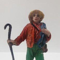Figuras de Goma y PVC: PASTOR . POSIBLEMENTE REALIZADO POR JECSAN . SERIE LA GRANJA . AÑOS 50 EN GOMA. Lote 192649401