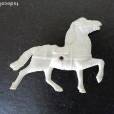 Figuras de Goma y PVC: CABALLO BLANCO SOTORRES DE TIRO PARA CARAVANA CARRETA DILIGENCIA TIPO REAMSA JECSAN COMANSI 70S.PTOY. Lote 192660582