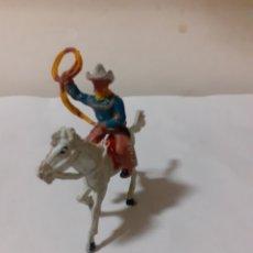 Figuras de Goma y PVC: FIGURA VAQUERO A CABALLO MINI OESTE GOMA. Lote 192669900