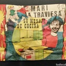 Figuras de Goma y PVC: SOBRE CERRADO TIPO MONTAPLEX MARI LA TRAVIESA SU MENAJE DE COCINA. Lote 192682556