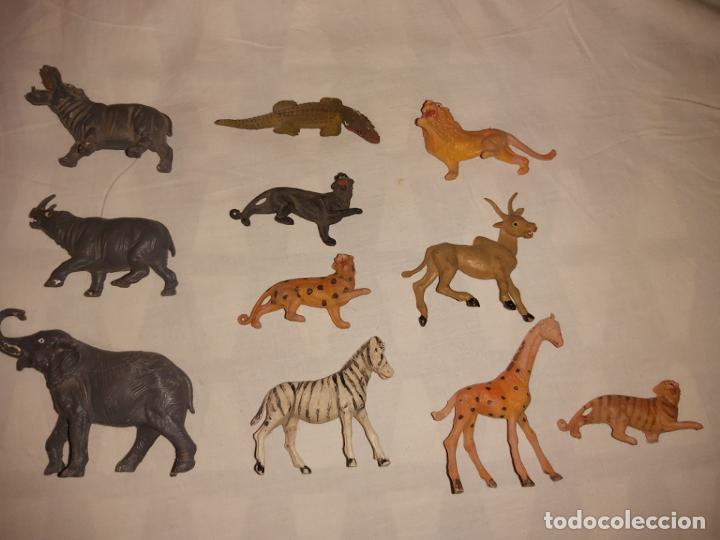 LOTE DE ANIMALES MORCILLON Y BABALI TEIXIDO (Juguetes - Figuras de Goma y Pvc - Teixido)