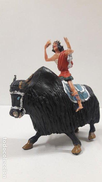 Figuras de Goma y PVC: FIDEO DE MILETO MONTADO EN SU JAK . REALIZADO POR ESTEREOPLAST . SERIE EL JABATO . AÑOS 60 - Foto 2 - 192781081