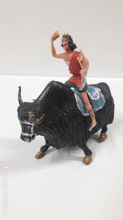 Figuras de Goma y PVC: FIDEO DE MILETO MONTADO EN SU JAK . REALIZADO POR ESTEREOPLAST . SERIE EL JABATO . AÑOS 60 - Foto 4 - 192781081