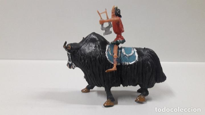Figuras de Goma y PVC: FIDEO DE MILETO MONTADO EN SU JAK . REALIZADO POR ESTEREOPLAST . SERIE EL JABATO . AÑOS 60 - Foto 8 - 192781081