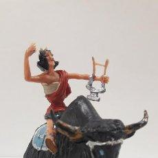 Figuras de Goma y PVC: FIDEO DE MILETO MONTADO EN SU JAK . REALIZADO POR ESTEREOPLAST . SERIE EL JABATO . AÑOS 60. Lote 192781081
