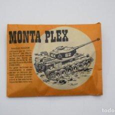 Figuras de Goma y PVC: MONTAPLEX TANQUE PANZER SOBRE PEQUEÑO CERRADO NARANJA - PRIMERA ÉPOCA - AÑO 1967. Lote 262264970