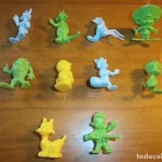 Figuras de Goma y PVC: DUNKIN - LOTE 10 FIGURAS DE PLÁSTICO DE LA WARNER BROS - AÑOS 80.. Lote 192856006