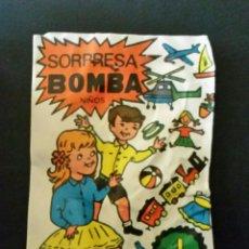Figuras de Goma y PVC: SOBRE PEQUEÑO CERRADO SORPRESA BOMBA NIÑOS TIPO MONTAPLEX. Lote 192900252