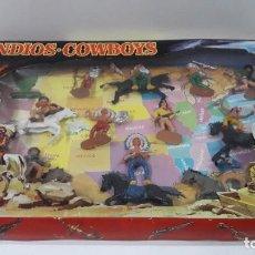 Figuras de Goma y PVC: CAJA ORIGINAL INDIOS - COWBOYS . COLECCIONES JECSAN . SERIE Nº 526 . AÑOS 60 / 70. Lote 193018225