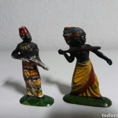 Figuras de Goma y PVC: FIGURAS JECSAN AÑOS 60 SERIE GUERREROS AFRICANOS. Lote 193033280