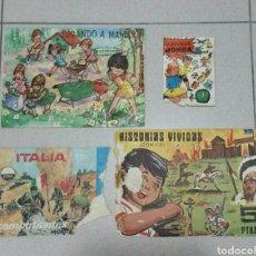 Figuras de Goma y PVC: LOTE DE 4 RAROS SOBRES VACIOS TIPO MONTAPLEX. Lote 193069593