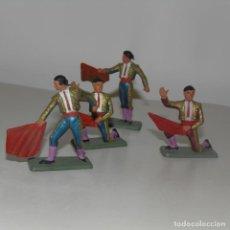 Figuras de Goma y PVC: GRUPO DE 4 TOREROS. . Lote 193116153