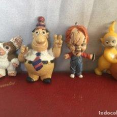 Figuras de Borracha e PVC: FIGURAS CURIOSAS DE GOMA Y PVC VINTAGE GREMLIN TELETUBY CHUKY.... Lote 193212850