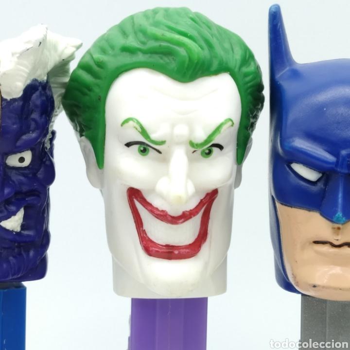 Dispensador Pez: Dispensadores PEZ, serie completa BATMAN DC Comics año 2008 - Foto 3 - 193267930
