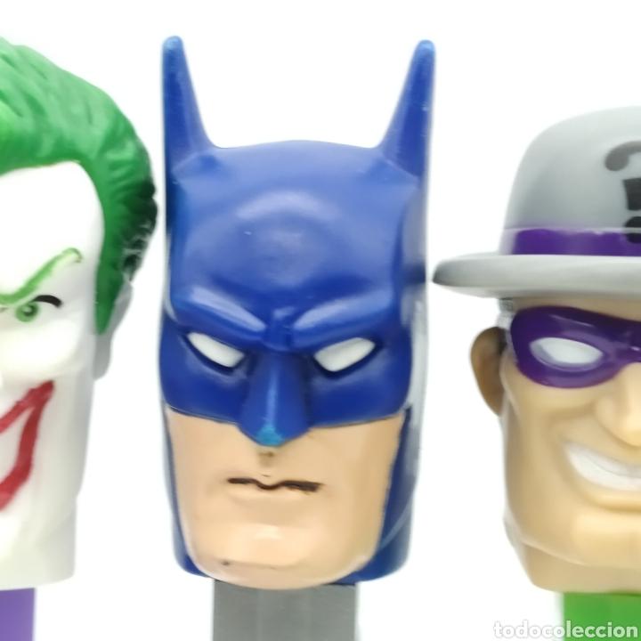 Dispensador Pez: Dispensadores PEZ, serie completa BATMAN DC Comics año 2008 - Foto 4 - 193267930
